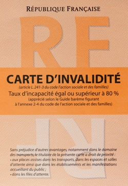carte d invalidité orange Peut on obtenir la carte d'invalidité lorsque l'on a un cancer